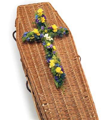 Funeral Cross  Vibrant Colours